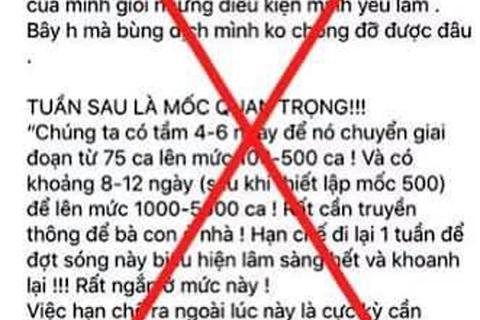 Hà Nội: Xử lý người phụ nữ đăng tin giả phát ngôn của Phó Thủ tướng