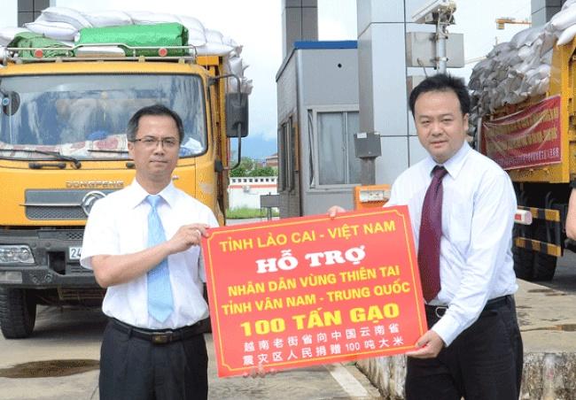 Lào Cai tặng 100 tấn gạo cho người dân vùng động đất Trung Quốc
