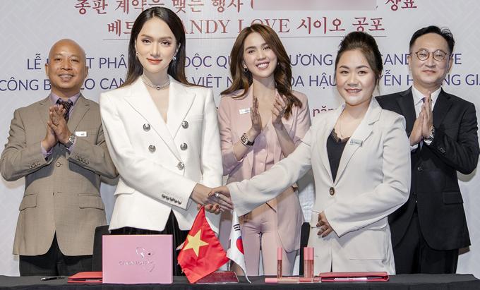 Ngọc Trinh mừng Hương Giang nhận chức CEO