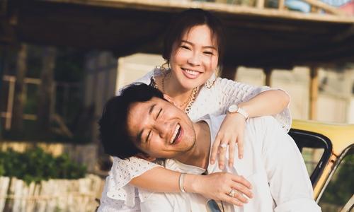 Quý Bình và vợ doanh nhân chụp ảnh cưới ở Phú Quốc