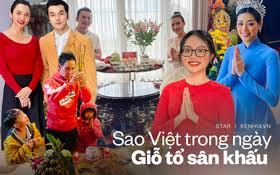 Showbiz Việt ngày Giỗ tổ sân khấu: Lý Hải - Khánh Vân và dàn sao khủng dâng lễ online tại gia, chẳng tụ họp mà cực ấm cúng!