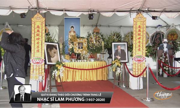 Tang lễ NS Lam Phương tại Mỹ Dàn sao Việt nghẹn ngào nói lời tiễn biệt