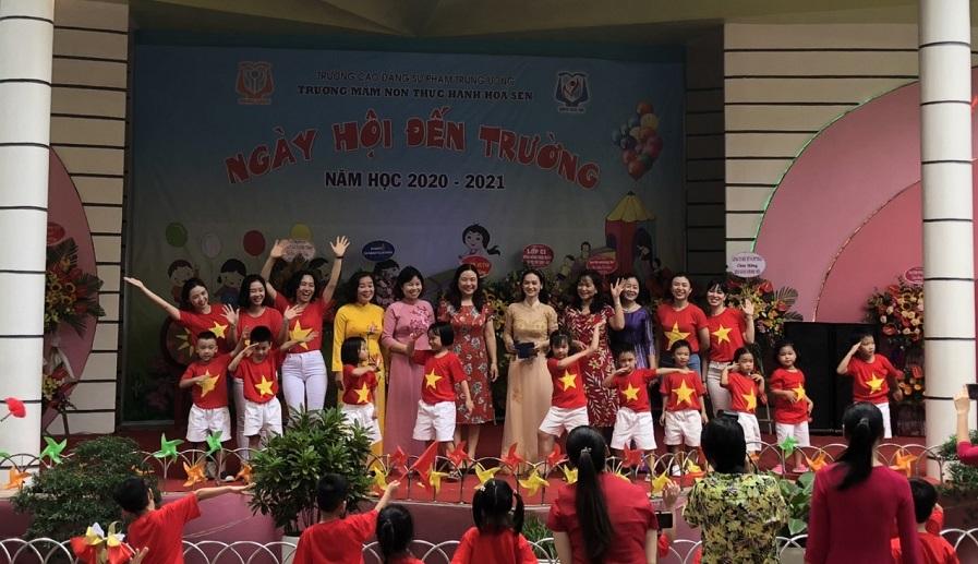 Trường mầm non thực hành Hoa Sen - Ba Đình tổ chức ngày hội đến trường