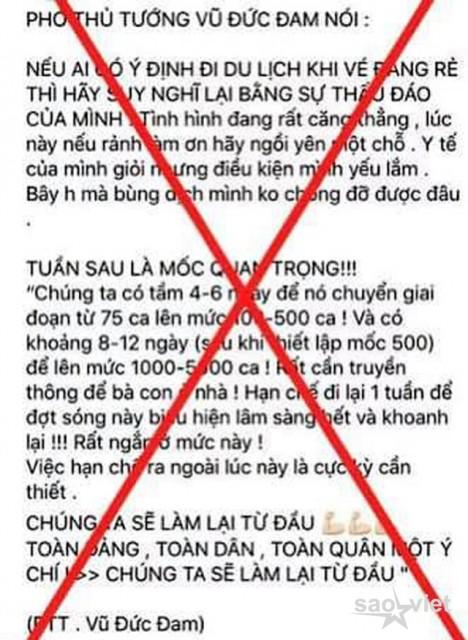 Hà Nội: Xử lý người phụ nữ đăng tin giả phát ngôn của Phó Thủ tướng - 1