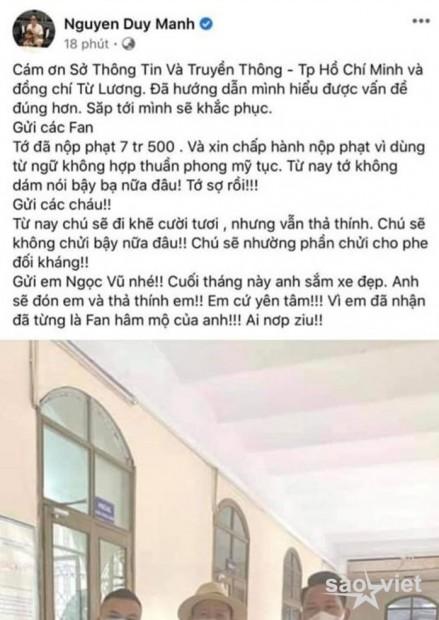 Sau loạt phát ngôn gây sốc, tài khoản cá nhân và fanpage của Duy Mạnh bất ngờ bay màu khỏi nền tảng Facebook - Ảnh 5.